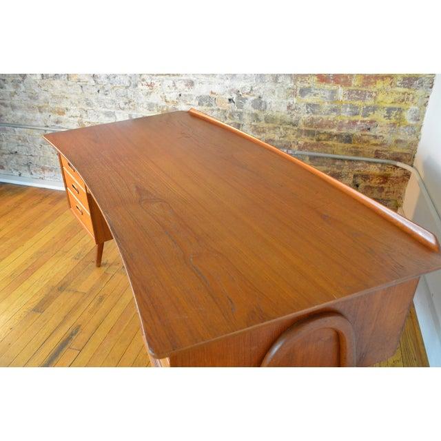 Svend Madsen Model Sh 180 Danish Modern Teak Writing Desk For Sale - Image 6 of 10