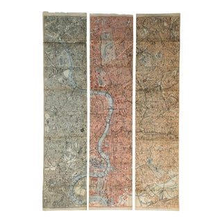 1911 Maps of London - Set of Three For Sale