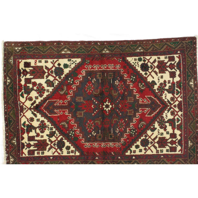 "Islamic Leon Banilivi Persian Hamadan Rug - 3'7"" x 5'2"" For Sale - Image 3 of 6"