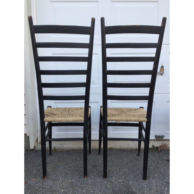 Vintage Mid Century Italian Ladder Back Chair- A Pair For Sale In Philadelphia - Image 6 of 11