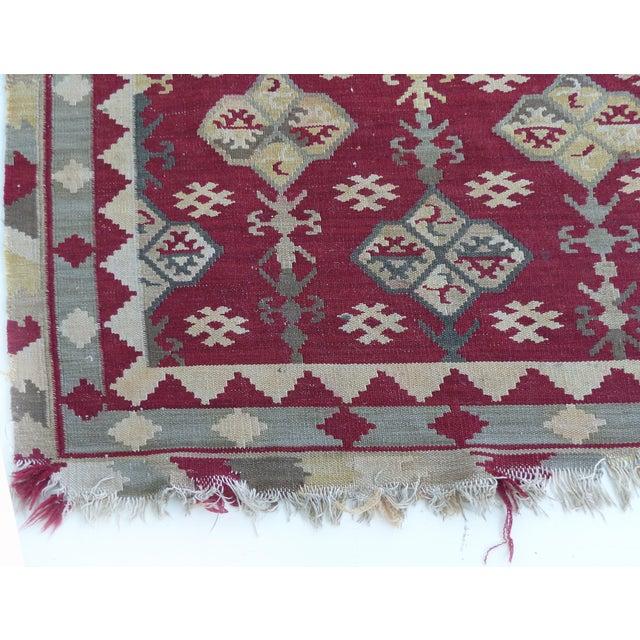 "Textile Handmade Kilim Rug - 7'8"" X 5'3"" For Sale - Image 7 of 9"