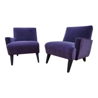 Jens Risom Split Single Arm Lounge Chairs Newly Reupholstered - a Pair For Sale