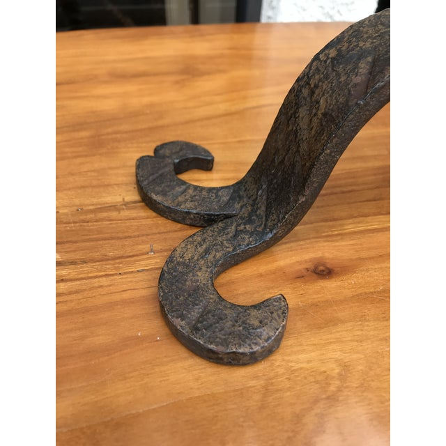 Traditional Vintage Iron Candelabra For Sale - Image 3 of 6