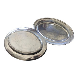 Beverly Hills Hotel Original Silver Serving Dishes - a Pair For Sale