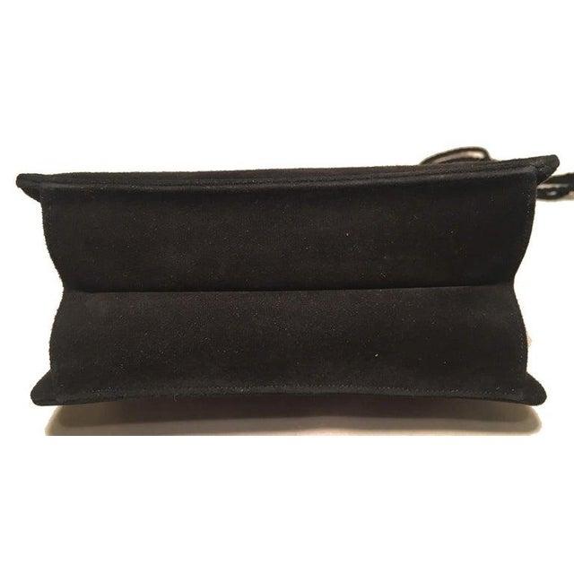 Black Judith Leiber Black Suede Evening Bag Clutch With Silk Tassel For Sale - Image 8 of 10