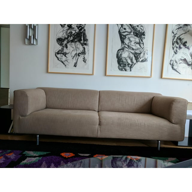 Cassina Cassina Met 250 Beige Sofa by Piero Lissoni For Sale - Image 4 of 10