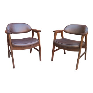 Hon Murphy Miller Mid Century Modern Arm Chairs - a Pair For Sale