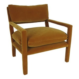 Fully Upholstered Open-Arm Lounge Chair by Milo Baughman For Sale