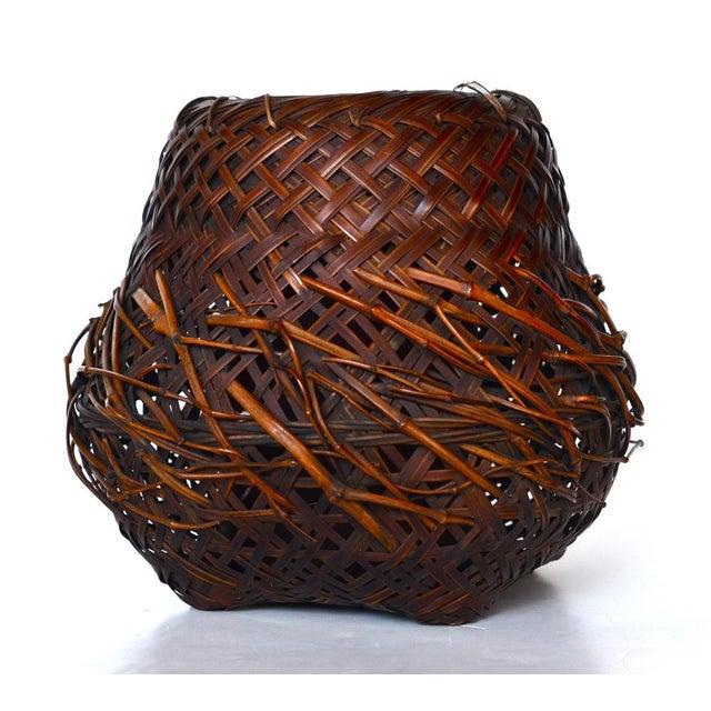 Antique Japanese Woven Ikebana Basket - Image 2 of 5