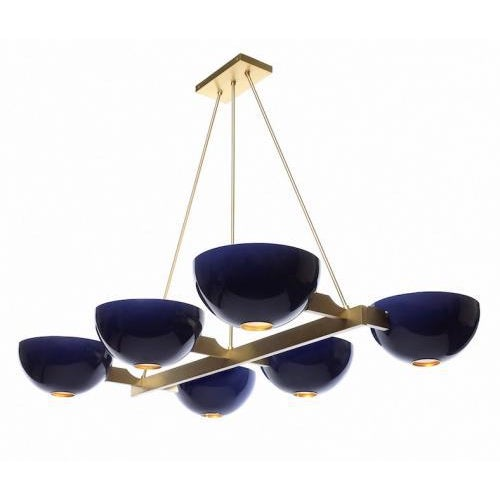 Contemporary Studio Van den Akker Rectangular Jackson Chandelier For Sale - Image 3 of 3