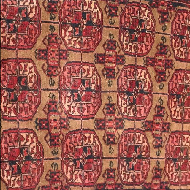 "Vintage Turkaman Persian Rug - 2'1"" X 2'7"" - Image 4 of 7"
