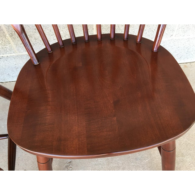 Brown Modern Ethan Allen New Country Hoop Back Gilbert Side Chairs- A Pair For Sale - Image 8 of 12