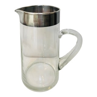 Dorothy Thorpe Vintage Silver Banded Water Pitcher For Sale