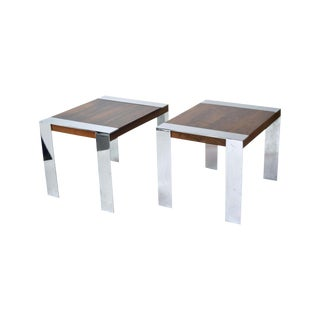 1960s Mid-Century Modern Milo Baughman Rosewood End Tables - a Pair For Sale