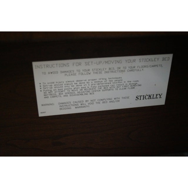 Stickley Tribeca Cherry California King Size Bed - Image 8 of 10