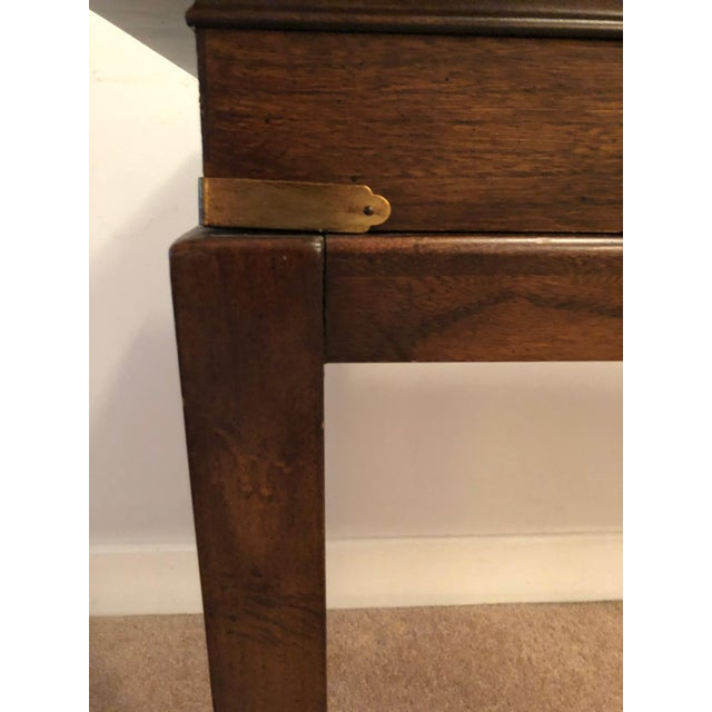 Metal Lane Mid-Century Backgammon Campaign Console Table For Sale - Image 7 of 13