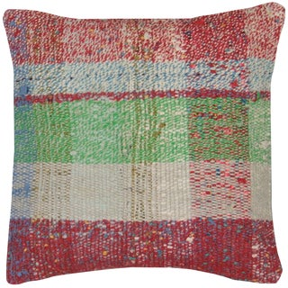 "Nalbandian - Adana Rag Rug Pillow, 15""x15"" For Sale"