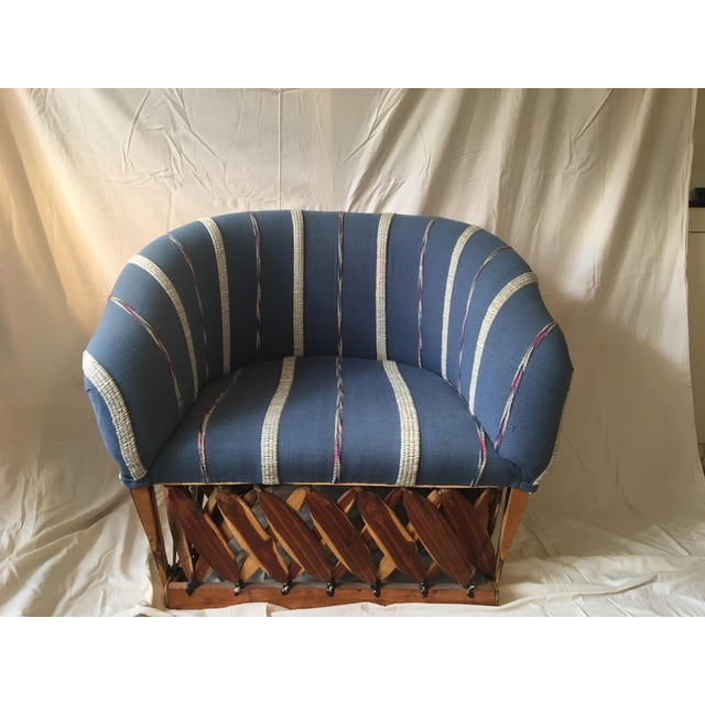 Fantastic handmade Mexican equipale chair. Very comfortable and in excellent vintage condition.