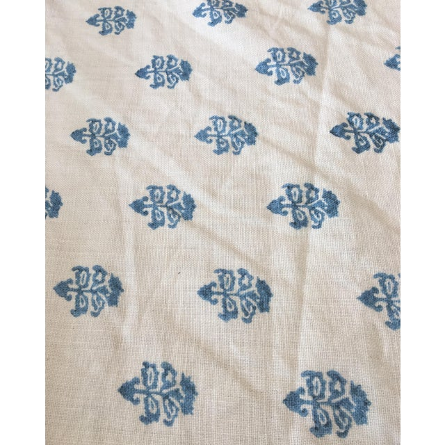 White & Blue C&c Milano Fabric- 3 1/2 Yards - Image 1 of 3