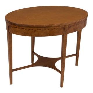 Swiss Grace Period Oval Center Table A. B. Nordiska Kompaniet Attributed to Carl Bergsten For Sale