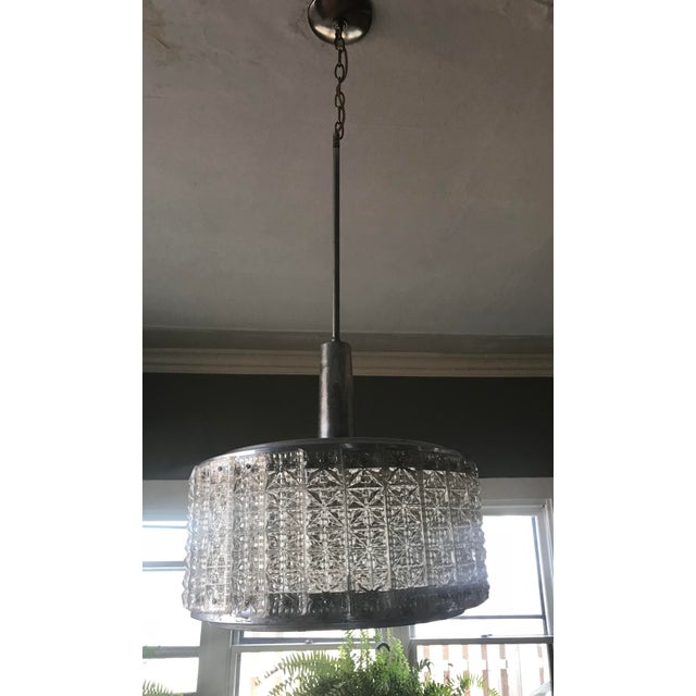 Mid-Century Modern Chrome Chandelier For Sale In Chicago - Image 6 of 6