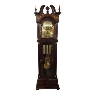 Charles Sligh Mahagony Grandfather Clock For Sale