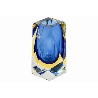 Blue Murano Art Glass Vase, Signed Mandruzzato Preview