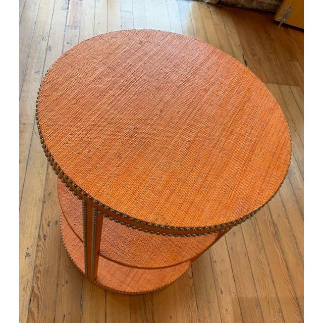2010s Boho Chic Curate Home Round Tier Table For Sale - Image 5 of 6