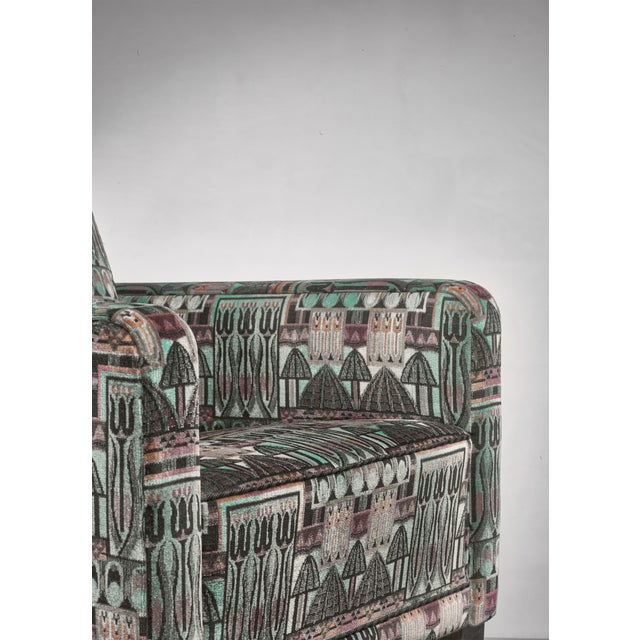 Wood Björn Trägårdh Pair of Club Chairs With Original Art Nouveau Upholstery, 1930s For Sale - Image 7 of 8