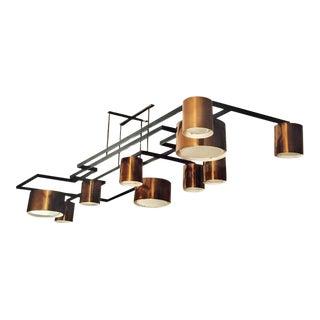 Diego Mardegan Enormous Ten-Light Ceiling Fixture Chandelier