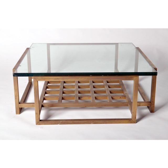 1950s French Vintage Bronze Coffee Table For Sale - Image 5 of 8