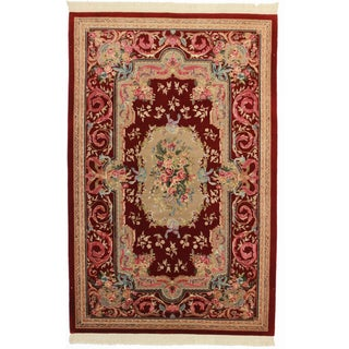"""Chinese Hand-Knotted Wool Rug - 5'9"""" X 8'9"""" For Sale"""