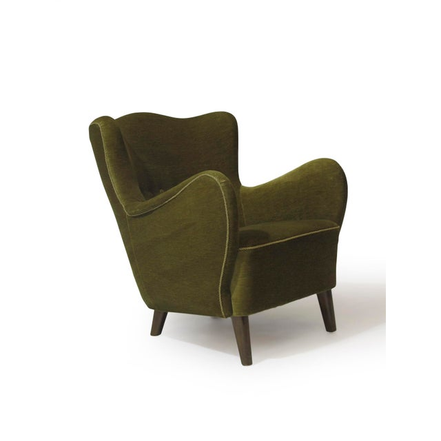 Scandinavian Mohair Lounge Chair For Sale - Image 11 of 11