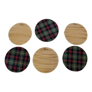 Christmas Plaid & Believe Charger Plates- 6 Pieces For Sale