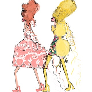 """Walk This Way in Moschino"" Limited Edition Print by Annie Naranian For Sale"