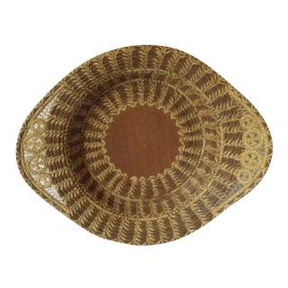 Vintage Native American Pine Needle Basket For Sale