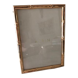 Aerin Brass Bamboo Picture Frame For Sale
