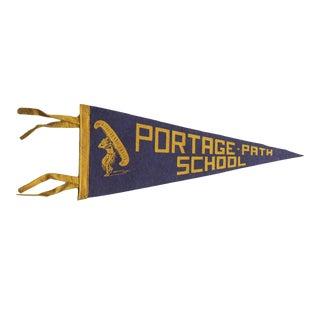 Vintage Portage Path School Felt Flag Pennant For Sale