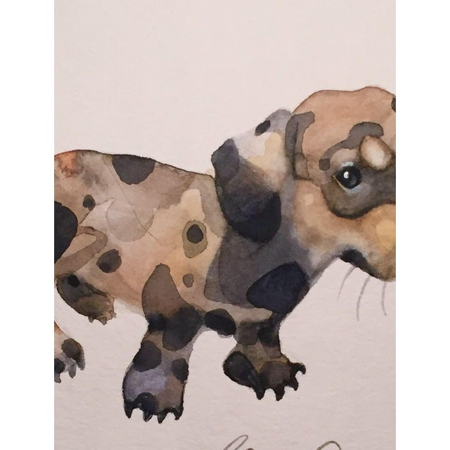 Dappled Doggy Original Watercolor Painting - Image 2 of 2