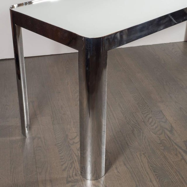 1970s Mid-Century Modernist Console Table in Seamless Polished Chrome & Mirror by Pace For Sale - Image 5 of 7