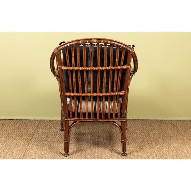 White 1920s American Bent Wood Chair With Injiri Upholstery For Sale - Image 8 of 9