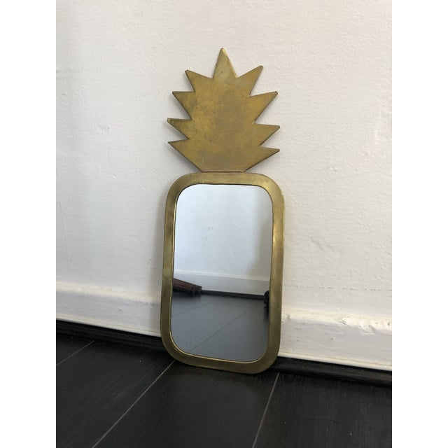 Boho Chic Honore Gold Pineapple Wall Mirror For Sale - Image 3 of 7