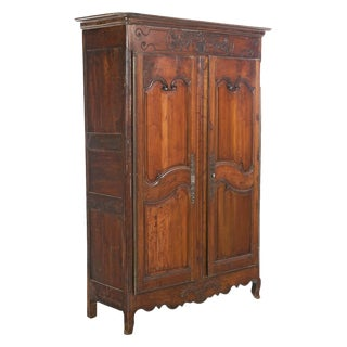Late 18th Century French Fruitwood Armoire For Sale