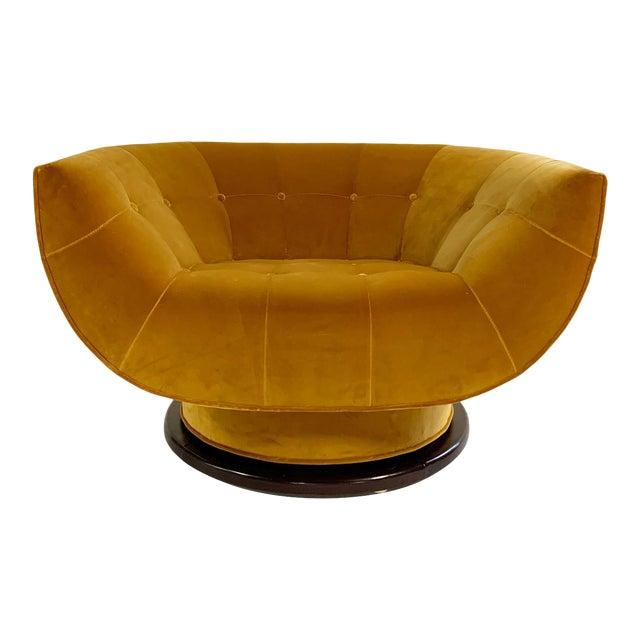 Adrian Pearsall Swivel Lounge Chair in Loro Piana Velvet For Sale