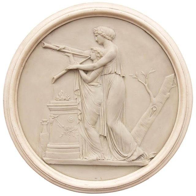 Classical Greek Architectural Roundel Sculpture For Sale - Image 4 of 4