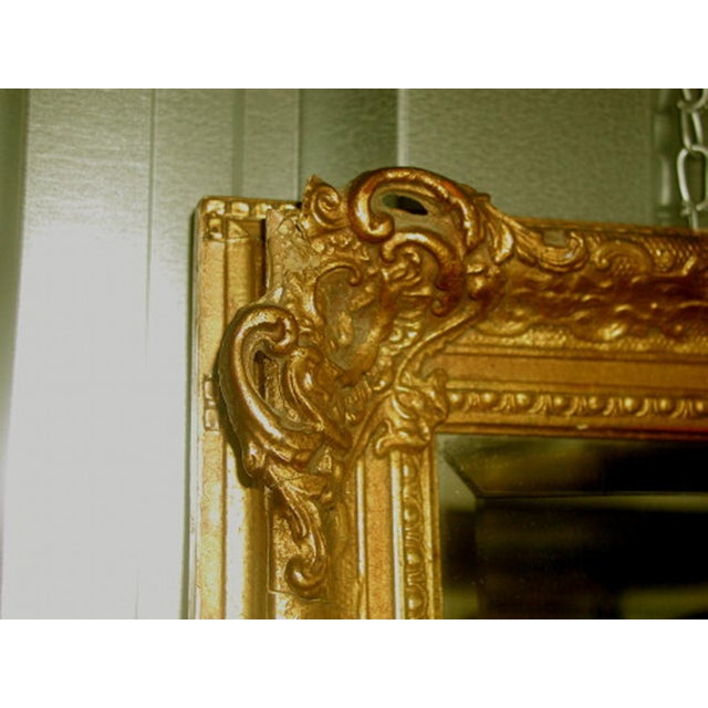 French 19th C. Carved Gilt Frame & Beveled Mirror - Image 10 of 10