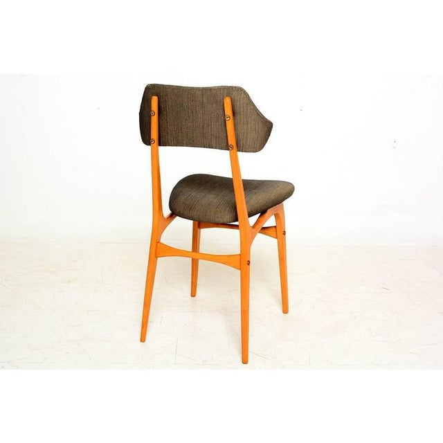 1950s Pair of Italian Side Chairs After Carlo Mollino For Sale - Image 5 of 10