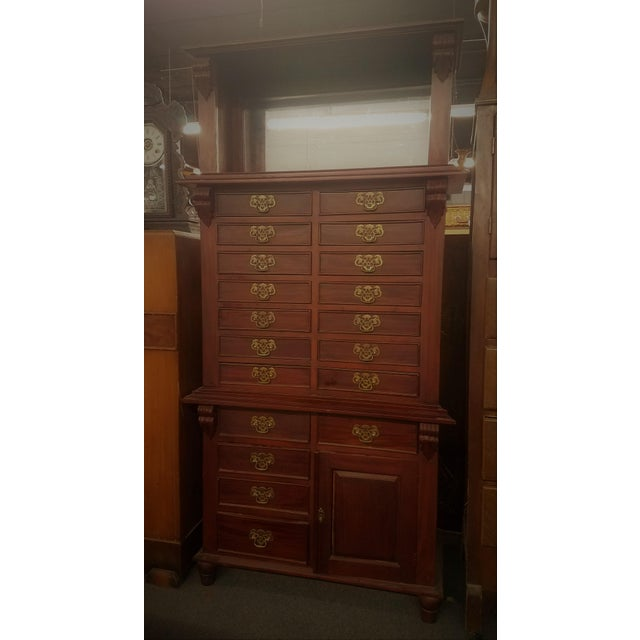 Antique Dentist Cabinet- Lots of Drawers in this beautiful piece 19 drawers in all plus a small door on the bottom. This...