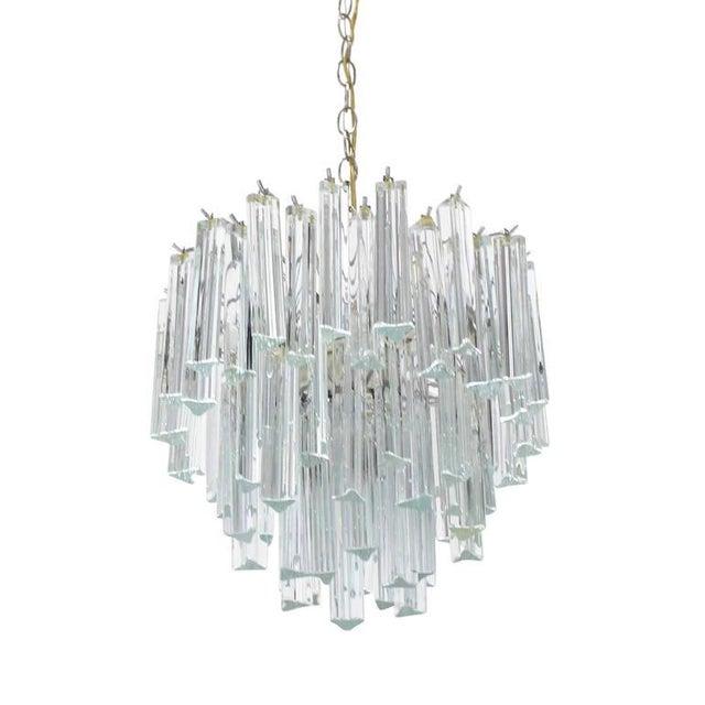 Medium Size Venini Glass Prisms Camer Light Fixture For Sale - Image 9 of 9