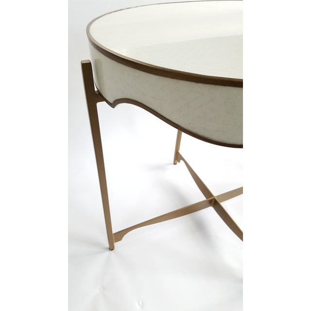 Gabby Trudy Oval Side Table For Sale - Image 4 of 5
